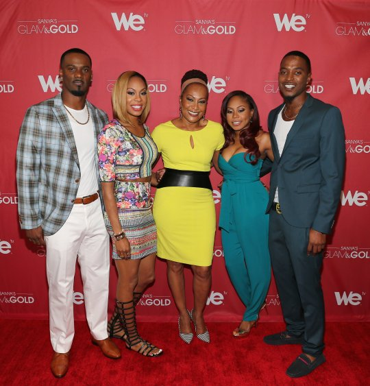Olympic gold medallist Sanya Richards-Ross hits the red carpet with the Ross-Richards clan.