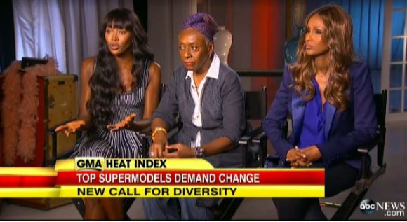 Naomi Campbell, Bethann Hardison and Iman spoke about the lack of diversity in fashion on ABC.
